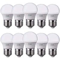 Juego de 10 Bombillas LED Bola G45 LED, 6 W, 570lumen, casquillo E27