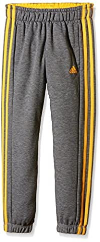 adidas Jungen Hose YB ESS 3S FT PC, Core Heather/Solar Gold, 176, 4056562676432