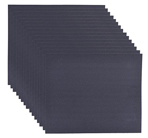 15er Set Schleifpapier K320 DIY, wasserfest I Wasserschleifpapier, Sandpapier Nass-Schleifpapier,...
