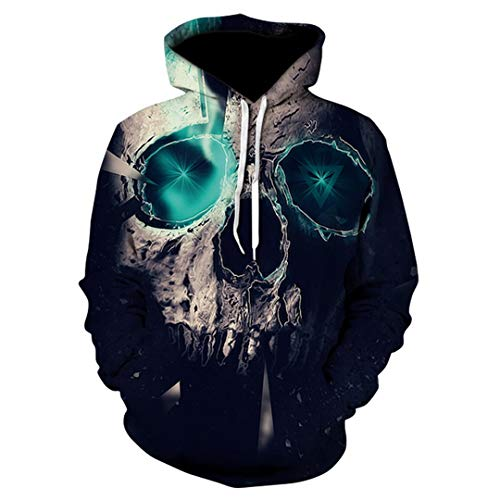 MäNner Halloween SchäDel Headr Terror Streetwear Sweatshirt Herbst Harajuku XXXL ()