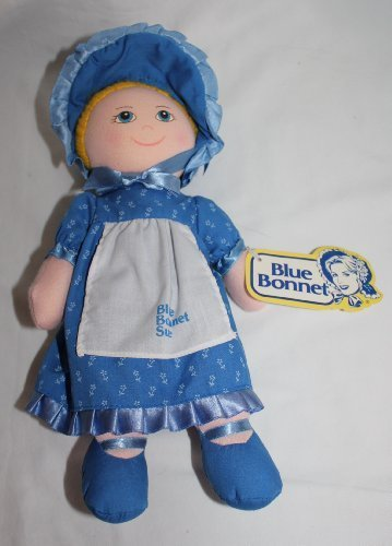 Vintage Blue Bonnet Sue Baby Doll Plush Toy 11 inches by Blue Bonnet