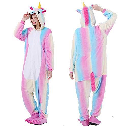 Fancy Paar Sizzle Animal Conjoined L Rainbow Sky HorseErwachsene Unisex Tier Schlafanzug Cosplay Pyjamas Karneval Kostüm Loungewear