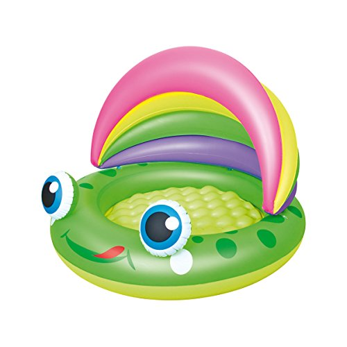 Bestway 52188 - pataugeoire avec marquise amovible Froggy Play Pool, 109 x 104 cm