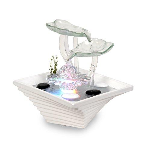 WeiVa Feng Shui Keramik Glas -Zimmerbrunnen mit LED Beleuchtung 22171