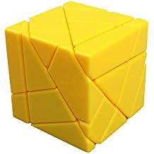 Dodolive 3X3X3 Abnormity Cube Ghost Cube Intelligence Stickerless Speed Puzzle Cube Ultra-Smooth Magic Cube,Yellow
