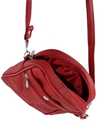 Lorenz 3728 - Borsa con scomparto per telefono Rosso (rosso)