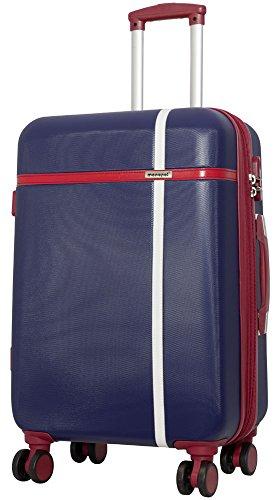 Koffer Hartschalenkoffer Reisekofferset Blau mit Streifen XL