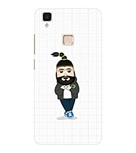 EPICCASE Cool Guy with Beard and tail Mobile Back Case Cover For VIVO V3 (Designer Case)