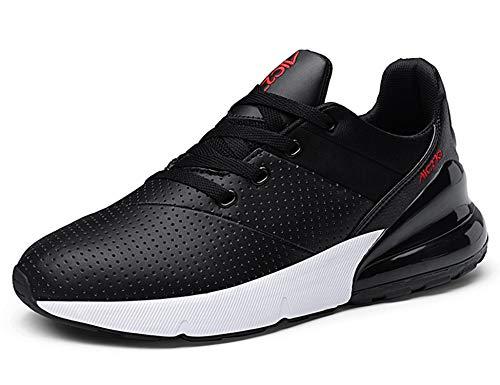 GNEDIAE Uomo AIC 270 a Collo Basso Scarpe Sportive Scarpe da Corsa Ginnastica Respirabile Mesh Running Sneakers Fitness Casual Nero 45 EU
