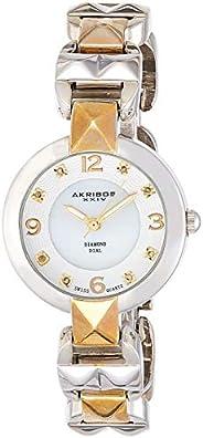 Akribos XXIV Women's Empire Analogue Display Quartz Watch with Alloy Brac