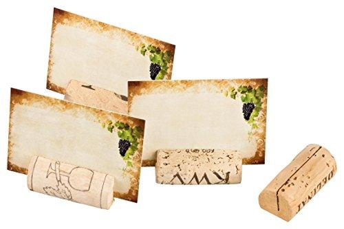 20 Tarjetas de mesa / Tarjetas de reservación Tarjetas con nombre hechas de corchos de vino usados para bodas, cumpleaños, fiestas, celebraciones
