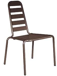 Chaise empilable Menu Rouille en Aluminium 62x60x90cm (Par 2) Rouille