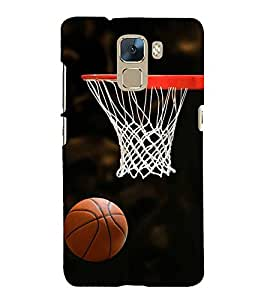 Vizagbeats Basketball and Net Back Case Cover for Huawei Honor 7