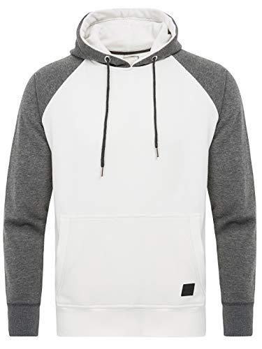 PITTMAN Kapuzenpullover Herren Hoody Sweatshirt Basic Purge, Weiß (Bright White 110601), M -