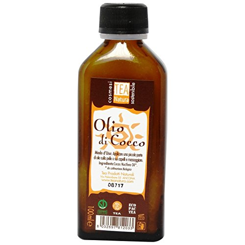 TEA NATURA - Huile de Coco Super Bronzante - Huile Douce et Délicate Multi-usages - Hydratante et Nourrissante pour la Peau et les Cheveux - Vegan - 100 ml