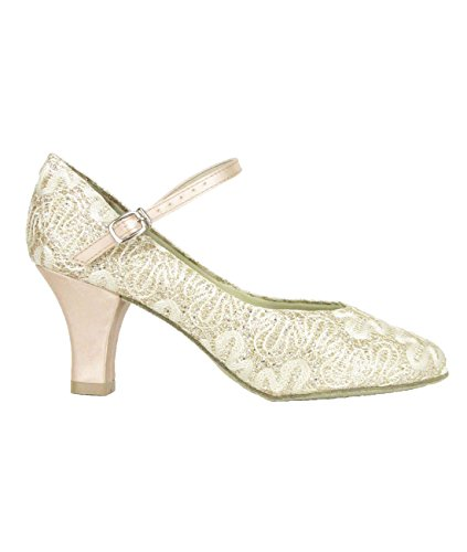 So Danca BL 166 sparkle gold Latein Salsa Rumba Tango Tanz Schuhe Chromledersohle, Absatz 6,4 cm gold funkelnd