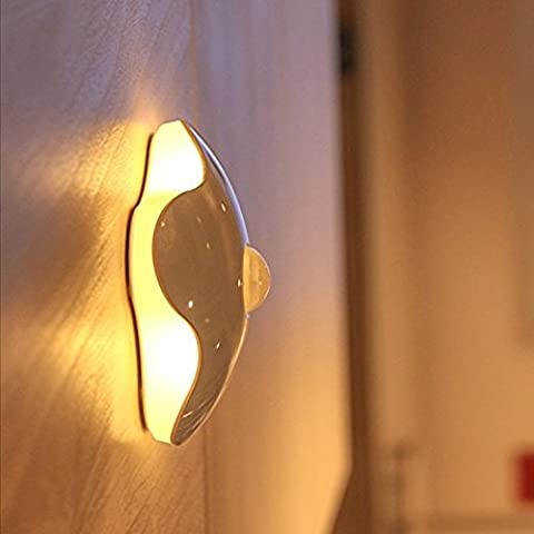 Capteur de mouvement Night Light, sans fil Nightlight Clover Style Night Lamp For Kids, idéal pour couloir, placard, escalier, salle de bain, chambre à coucher, cuisine Blanc chaud