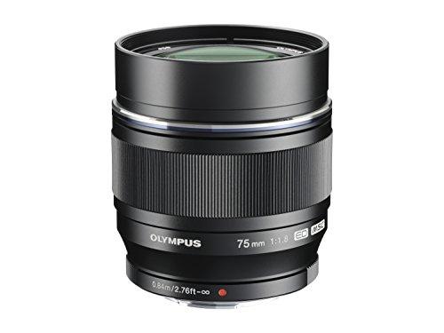 Olympus M.Zuiko Digital ED 75 mm 1:1:8 Objektiv für Micro Four Thirds Objektivbajonett (150 mm) schwarz
