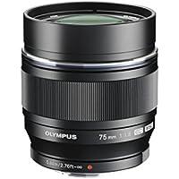 Olympus M.ZUIKO DIGITAL ED 75mm 1:1.8 Lens - Black