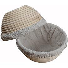 """Pack de 27""""/18cm redondo Banneton Brotform sourdough masa Proofing Proving Rattan cesta para el pan (con forro de lino UK nuevo"""
