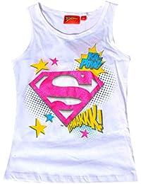 Filles sous licence officielle Superman Imprimer manches courtes T-shirt en coton Débardeur 8 ans à 12 ans