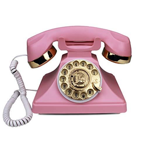 Edge To Festnetztelefone Antike Wählscheibe Telefon Kreative Mode Büro Home Card Wired Wireless Vintage Retro Telefon Festnetz Rosa Telefon zu Hause