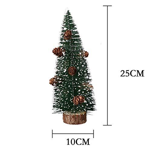 Mitlfuny Christmas,Weihnachtsdekoration,Christmas Decorations,Christmas Vacation,Mini Pine Needle Weihnachtsbaumparty-Dekoration, die klebrigen weißen Schnee-Baum Sich schart (Infant Snow White Kostüm)