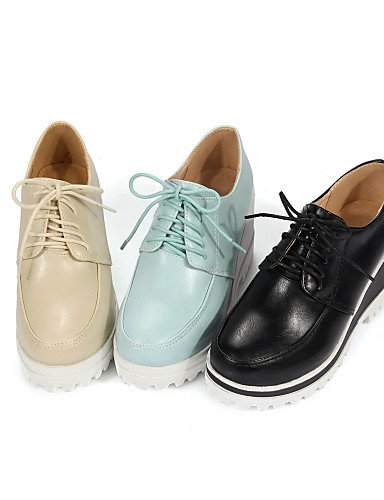 ZQ hug Scarpe Donna-Scarpe col tacco-Casual-Zeppe-Zeppa-Finta pelle-Nero / Blu / Tessuto almond , blue-us10.5 / eu42 / uk8.5 / cn43 , blue-us10.5 / eu42 / uk8.5 / cn43 blue-us9 / eu40 / uk7 / cn41