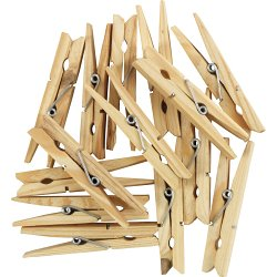 Image of SupaHome Wooden Hardwood Clothes Pegs Pack Of 36
