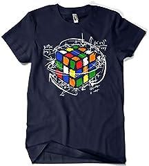 Idea Regalo - Camisetas La Colmena Magliette della arnia 4189-rubikcube Marino M