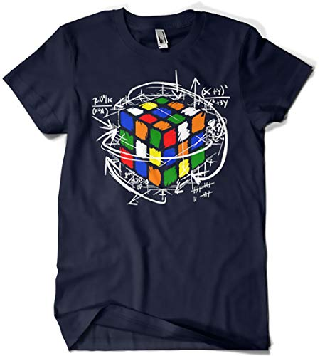 Camisetas La Colmena 4189-Rubikcube (XL, Marino)
