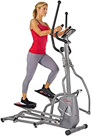 Sunny Health & Fitness Unisex Adult Sf-E3810 Magnetic Elliptical Trainer - Silver, One