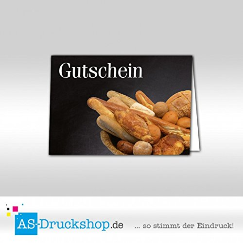 Gutschein Bäckerei Brotkörbchen / 50 Stück/DIN A6