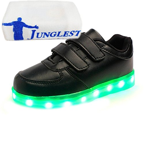 junglest® Handtuch Leuchten present kleines Wiederaufladbare Sportschuhe Turns Glow Schwarz Led Kids Flashing Unisex Luminous 5EwTpnpq