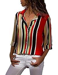 Mujer Blusa Camiseta Tops Vintage Bohemian Traje de otoño Playa,Sonnena Camisa de Manga Corta de Lino Suelta de Moda Irregular para Mujer S/M/L/XL Blusa Vintage Suave Suelto Casual
