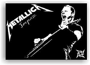 Metallica James Hetfield 100x70cm Bild Kunstdruck auf Leinwand Bild Keilrahmenbild Leinwandbild Leinwanddruck