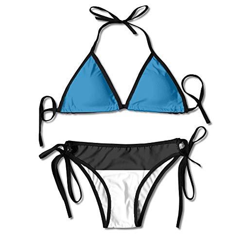 Women's Thong Bikini Suit Swimsuit Estonia Flag Stripes Flag Sexy Bikini Set 2 Piece