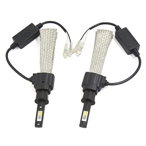 sourcingmap®-2 H3 6000 K, colore: bianco, 30 LED 3200LM Kit di conversione treccia in (80 % Di Rame Treccia)