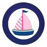 Traum Kind Türknauf Möbelknopf Möbelgriff Möbelknauf Maedchen rosa pink weiß blau Massivholz Buche - Kinder Kinderzimmer Segelboot Boot Schiff rosa