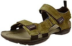 Woodland Mens Camel Leather Sandals and Floaters - 6 UK/India (40 EU)