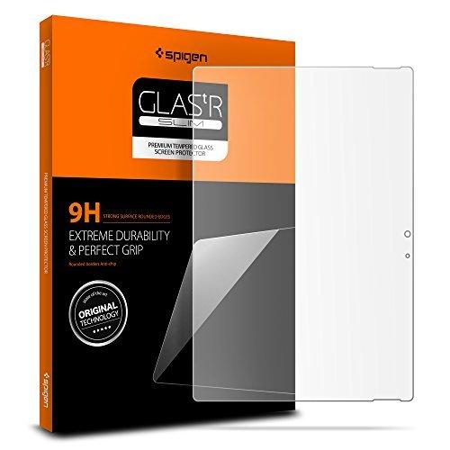 Spigen Bildschirmschutzfolie [gehärtetes Glas] für Microsoft Surface Book 2 (13,5 Zoll) /Surface Book 2 (34,3cm) 1 Packung