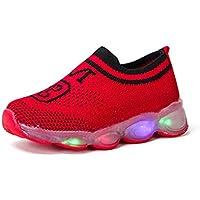 Zapatos para niño con luz, Zapatos Ligeros para niños y niñas de Colores, Cordones Luminosos con LED, Luces Intermitentes, Zapatos para niños, Zapatos Casuales
