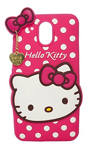 Dream2Cool Cute Hello Kitty Soft Silicone Printed Back Case Cover for HTC Desire 526 - Pink
