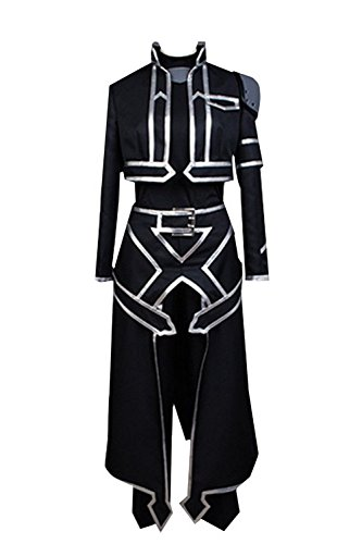 Cosplayfly Sword Art Online Kazuto Kirito Kirigaya Alfheim Online Cosplay Kostüm College Jacke Herren Schwarz L