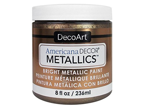 Deco Art Americana Décor Metallic Jar der Farbe, Acryl, antik bronze, 7x 7x 8cm