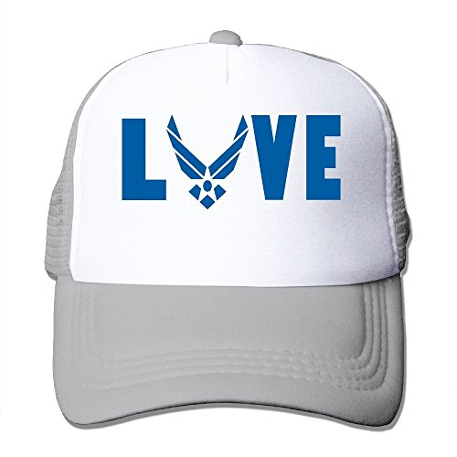 Xukmefat Love Air Force Mesh Trucker Caps Hats Adjustable For Unisex Black 96bc785c4056