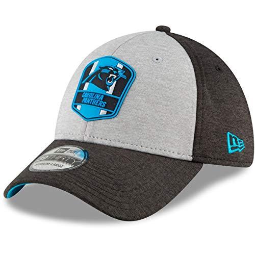 New Era NFL Carolina Panthers Authentic 2018 Sideline 39THIRTY Stretch Fit Road Cap, Größe :S/M