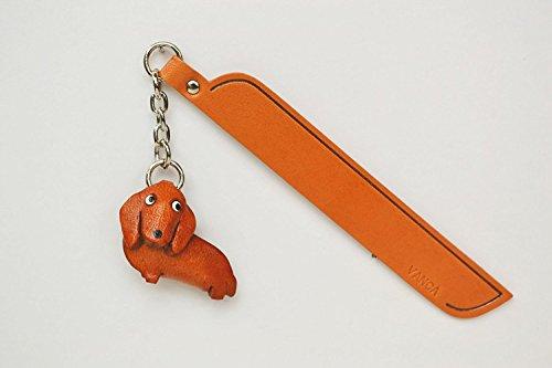 Dackel Leder Hund Charm Lesezeichen Vanca handgefertigt in Japan... -