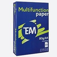 Carta per stampanti e fotocopiatrici, 500 fogli, 80 g/m², colore: bianco