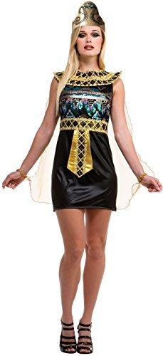 Damen Sexy Pailletten Ägyptisch Königin Kleopatra Kostüm Kleid Outfit ()